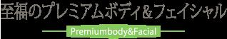 至福のプレミアムボディ&フェイシャル